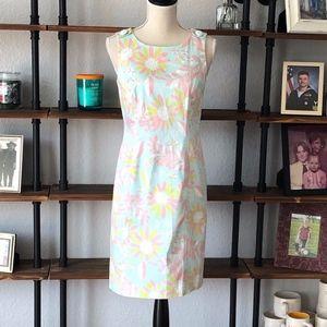 "Brooks Brother ""346"" sleeveless floral dress Sz. 4"